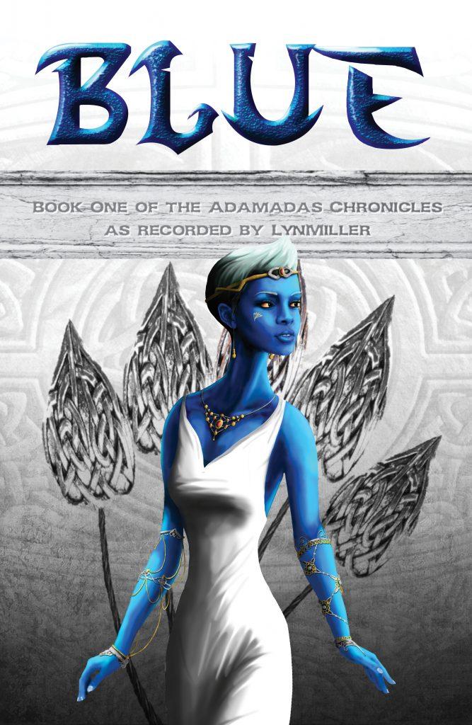 Stucci Blue Book Cover Digital Illustration