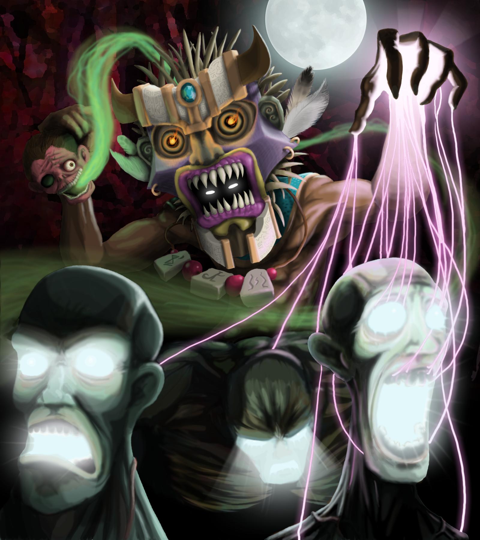 Witchdoctor Diablo Illustration