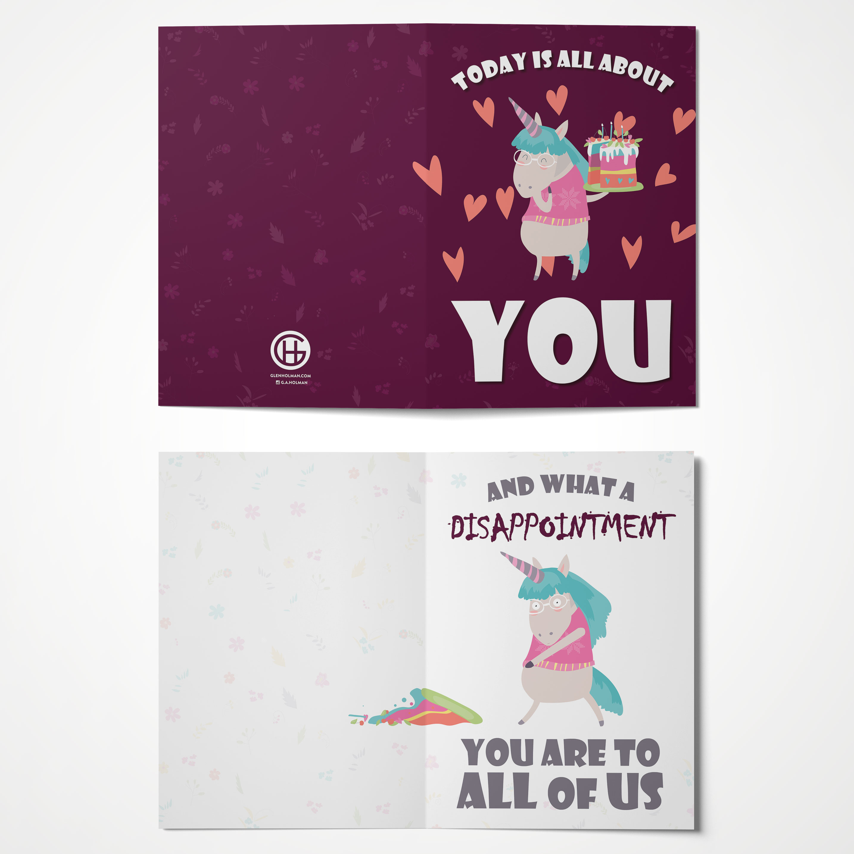 Its All About You A6 Size Awesome Greeting Cards Glen Holman