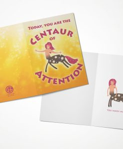 Centaur of Attention Greeting Card